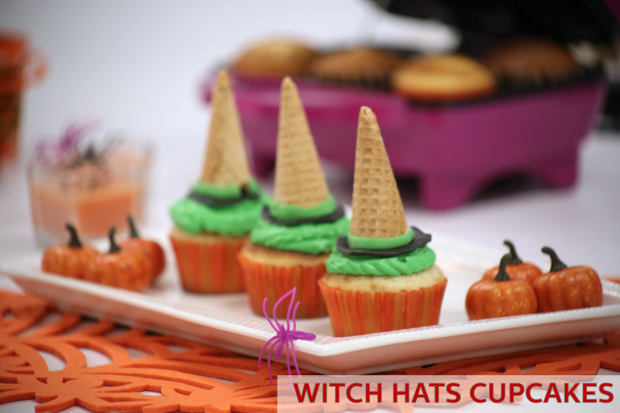 Halloween Cupcake Decorations: Witch Hats!
