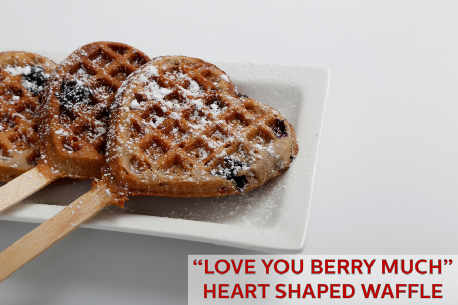 """Love You BERRY Much"" Heart Shaped Waffle Recipe"
