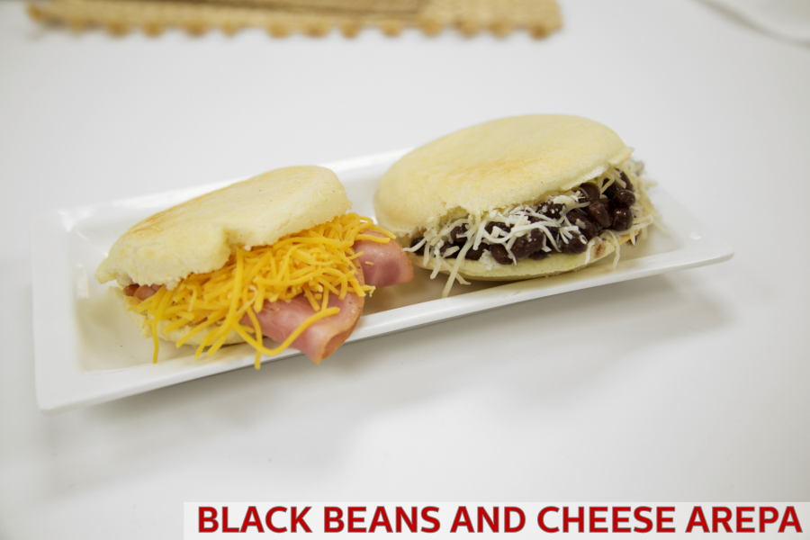Traditional Arepa Recipe- Domino (Black Beans & Cheese)
