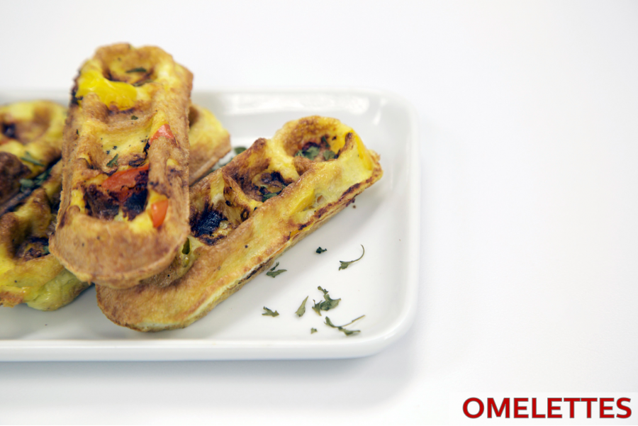 Omelettes Made in Your Waffle Stick Maker