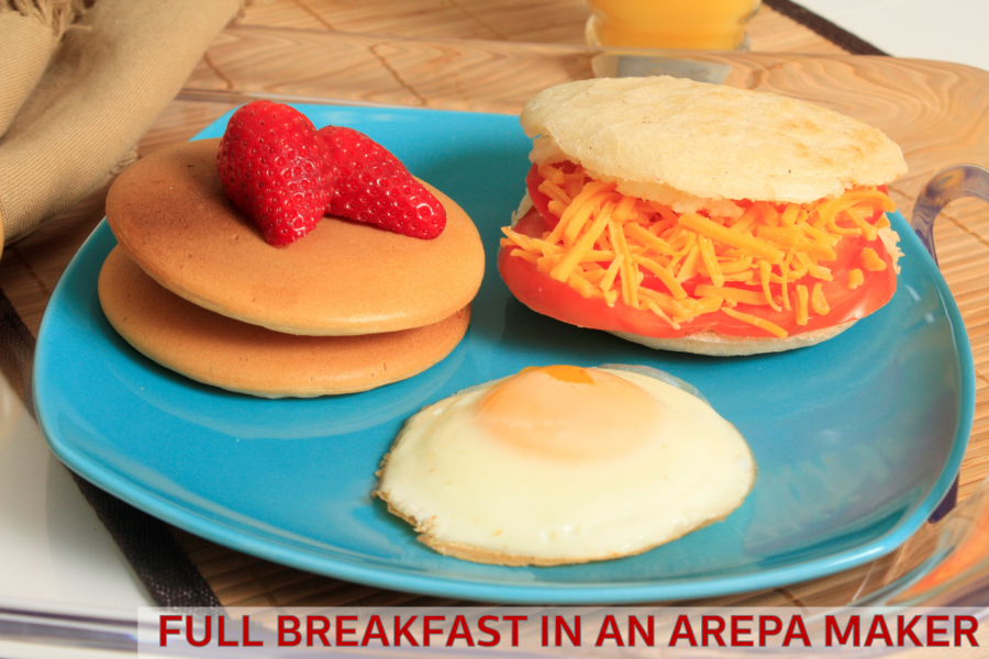 Breakfast Made in an Arepa Maker + Hash Brown Recipe