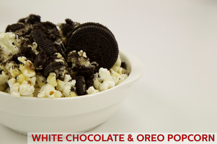 White Chocolate & Oreo Popcorn