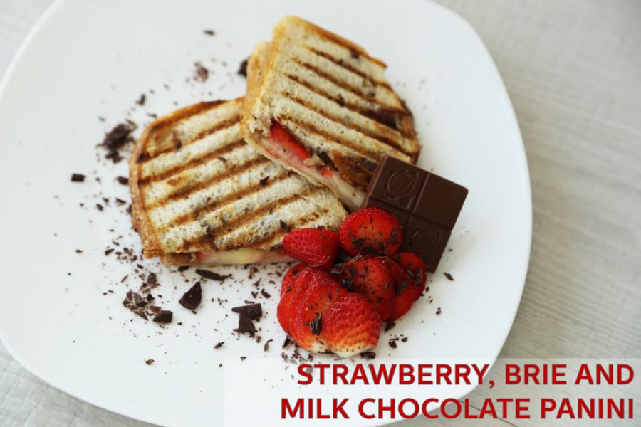 Strawberry, Brie, Chocolate Panini Grill- Holstein Housewares + CAO Chocolates